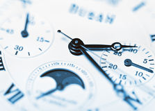 Arrows mechanical Clock Stock Photography
