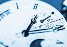 Arrows mechanical Clock. Very shallow depth of field and Focus o Royalty Free Stock Image