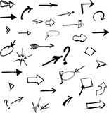 Arrows 2. Arrows mega set. Vector illustration Royalty Free Stock Photos