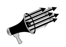 Arrows megaphone Stock Image