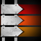 Arrows Metal Signboard Stock Image