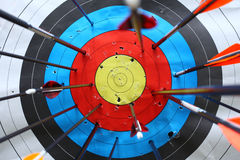 Arrows miss target. Concept of failed, arrows miss target Royalty Free Stock Images