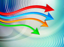 Arrows moving Stock Image