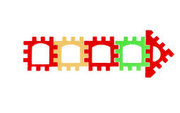 Free Arrows Multicolored Stock Image - 43734921