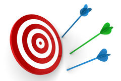 Arrows Off Target Stock Images