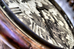 Arrows of old vintage clocks. Close-up of arrows on old vintage clocks stock photo