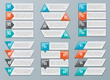 Arrows options for diagram, graph, chart Royalty Free Stock Photos