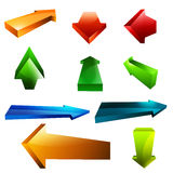 Arrows Pack Royalty Free Stock Image