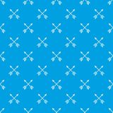 Arrows pattern seamless blue Stock Images