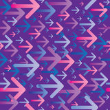 Arrows Pattern Superposition in Pink Blue Colors Stock Image