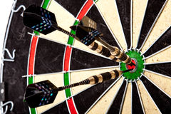 Arrows Perfectly Hit! Royalty Free Stock Photos