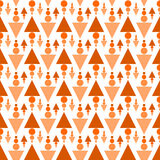 Arrows pine forest triangles seamless pattern. Abstract pine forest similar to arrows made of triangles and circles Royalty Free Stock Image