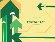 Arrows with place for text, cream background Stock Images