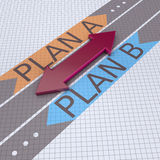 Arrows with plan A plan B Stock Images