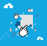 Arrows and pointer hand illustration design Stock Image