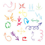 Arrows, pointers - in style doodle Royalty Free Stock Images