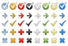 Arrows for presentation Stock Photos