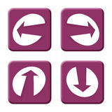 Arrows purple. Left, right, up and down arrows Royalty Free Stock Images
