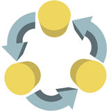 Arrows recycle workflow communications copy space Stock Images