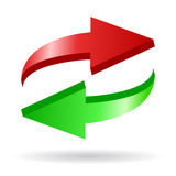 Arrows reload icon Royalty Free Stock Photo