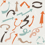 Arrows representing development Stock Images