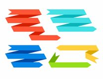 Arrows, ribbons, texts, color. Vector arrows for texts, similar to colored tape Stock Photography