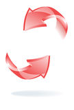 Arrows Ring Rotating Royalty Free Stock Photos