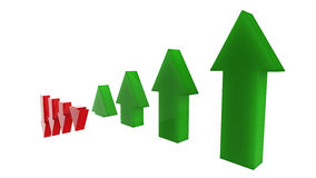 Arrows rise up. Graph derivative of the arrows rise stock illustration