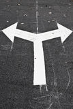 Arrows on the road junction Royalty Free Stock Photography