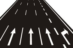 arrows on the Road(vector) Stock Images