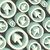 Arrows. Seamless pattern. 3d  illustration. Royalty Free Stock Photo