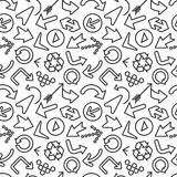 Arrows Seamless Pattern Stock Photography