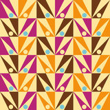 Arrows seamless triangle abstract pattern Vector. Colorful seamless pattern illustration, geometric pattern with triangle and arrows, retro colors, vector format Stock Image