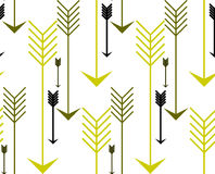 Arrows seamless vector pattern background. Illustration Royalty Free Stock Photo