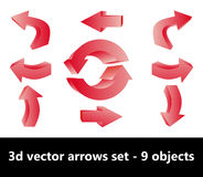 Arrows set. 3D arrows set, design elements Stock Image