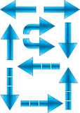 Arrows set 2. Set of different blue arrows royalty free illustration