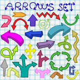 Arrows set Royalty Free Stock Image