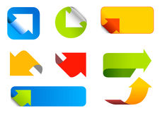 Arrows set. Abstract icons. Royalty Free Stock Photography