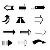 Arrows. Set of black and white arrows Vector Illustration