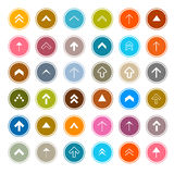 Arrows Set in Circles Stock Images