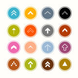Arrows Set in Circles Royalty Free Stock Photography