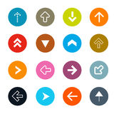 Arrows Set in Circles Vector Illustration Stock Photo