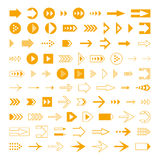 Arrows set, different styles cursors. Stock Photos