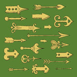 Arrows. Set of different vector hand-drawn arrows Stock Photo