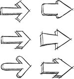 Arrows. A set of arrows drawn vector Stock Photos