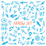 Arrows set, hand drawn arrows set, sketched style Stock Photography