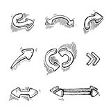 Arrows set Royalty Free Stock Images