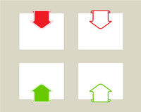 Arrows set with paper for note.Vector illustration Royalty Free Stock Photos