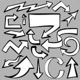 Arrows set sketch hand drawn cartoon vector Stock Photo