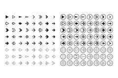 arrows set, undo and previous buttons Stock Photos
